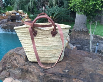French market bag, French market tote , Basket, Straw bag , woven straw bag , Capazo , Panier bag , Market Basket , straw bag ,