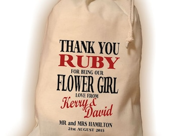 Personalised Flower Girl Gift Bag - Various Sizes Available Ruby Design
