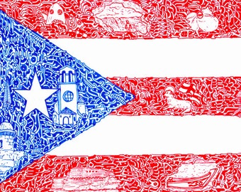 "Stickers of National Flags ""Puerto Rico"""
