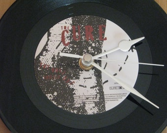 """The Cure the only one  7"""" vinyl record clock"""