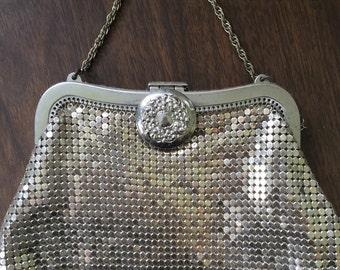 Vintage Clutch Handbag with chain 1930 era