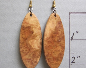 Unique Corrugata Burl Exotic Wood Earrings, Handmade ExoticWoodJewelryAnd ecofriendly earthy