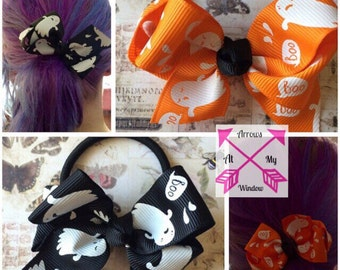 Ghost hair band, Ghost hair bow, Hairband, Hairtie, Hair accessories, Hand made hair bow,