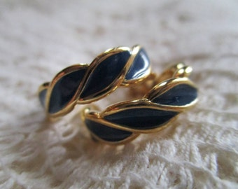Vintage Monet Blue Earrings