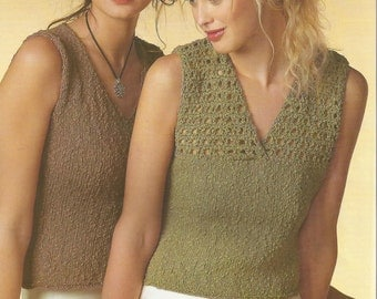 Instant Download - PDF- Vintage V Top Knitting Pattern (K34)