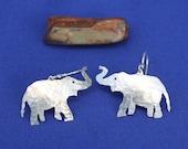 Sterling Elephant Earrings, Sterling Dangles, Silver Elephants, Elephant, Sterling Silver Earrings,