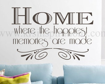 Home Memories wall decal