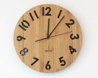 Modern All Numbers Wall Clock - Black