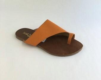Brazilian Leather Slip On Sandals for Women