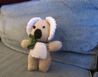 Hand-knit Stuffed Toy Koala