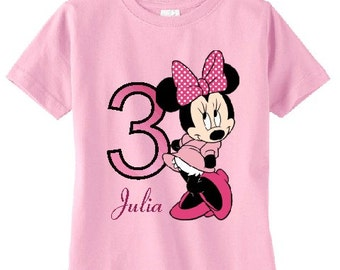 Minnie Mouse Custom t-shirt (Different Colors)