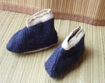 Baby Booties, vintage Japanese knitted garments
