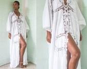 Lace Kaftan, Cotton Kaftan, White Kaftan, White Dress, Cotton Lace Kaftan, Summer Kaftan, Beach Kaftan, White Long Kaftan,