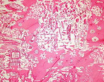 Skinny Dippin cotton fabric  18 X 18 inches ~Lilly Pulitzer~