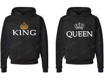 king queen hoodie etsy de. Black Bedroom Furniture Sets. Home Design Ideas
