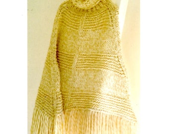 A Perfect Poncho knitting pattern , in instant download version