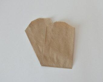 Kraft Mini Paper Bags // Small Favor Bags // Small Treat Bags // Utensil Bags 4 x 2.75 (Set of 25)