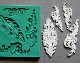 Silicone Mould METAL ORNAMENTS Sugarcraft Cake Decorating Fondant / fimo mold