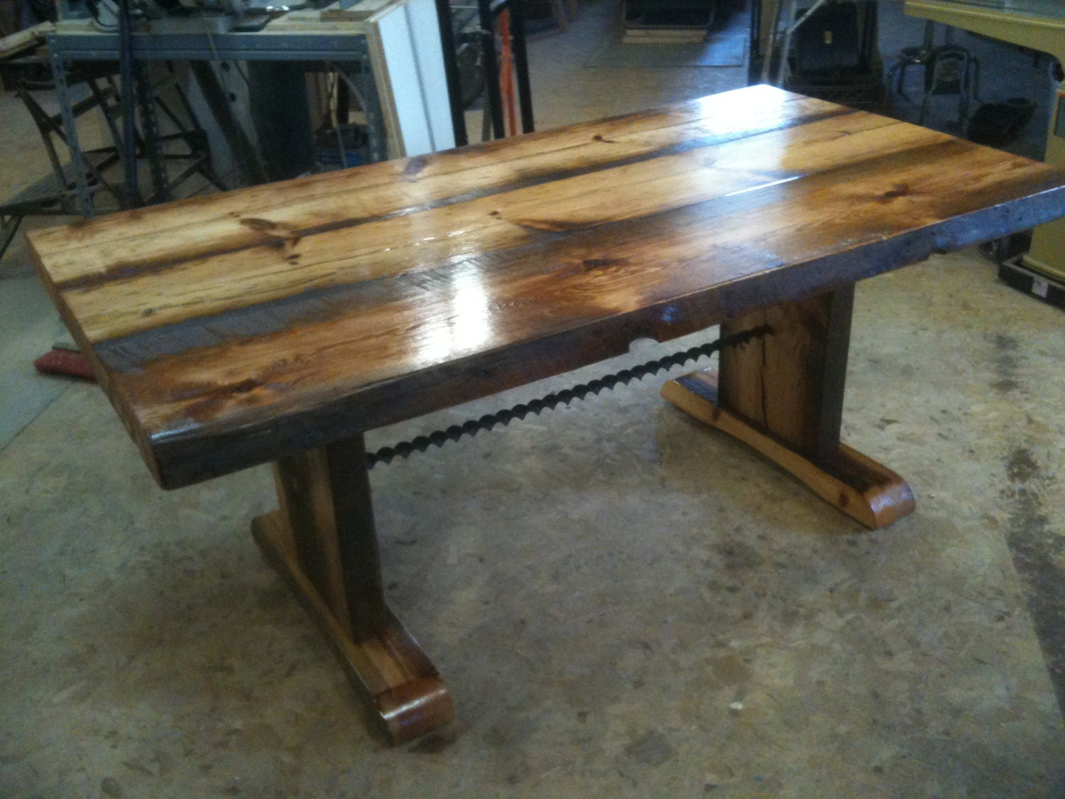 Reclaimed Barnwood Dining Table With Bench