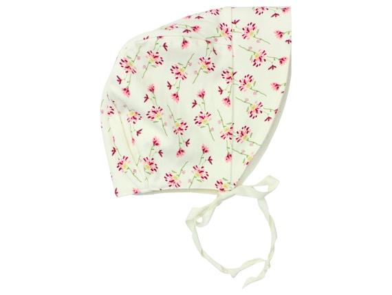 Baby Sun Bonnet Toddler Sun Bonnet Pink Flower Baby Bonnet Floral Bonnet Dainty Floral Bonnet