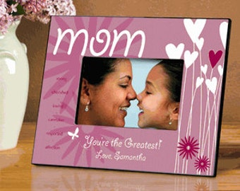 Personalized Hearts and Flowers Picture Frame        GC737