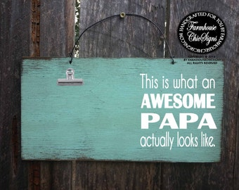 papa, gift for papa, papa picture frame, papa sign, papa decoration, Christmas gift for papa, awesome papa, papa decor, papa decoration