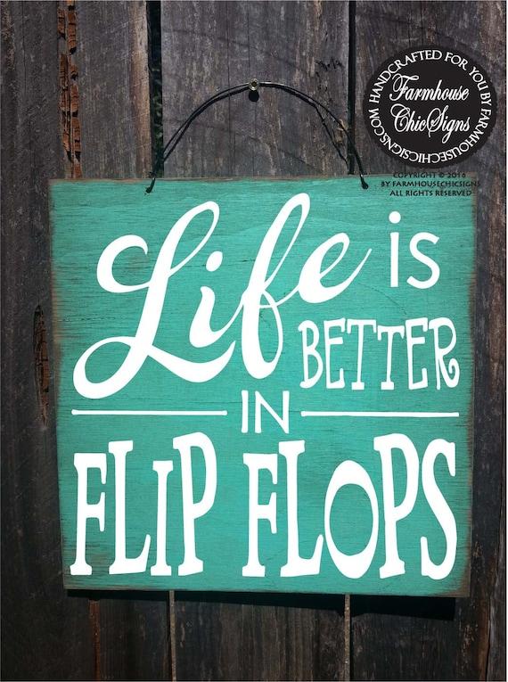 beach decor, beach house, flip flop sign, beach decorartion, beach sign, beach decor, beach house decor, Life is Better in Flip Flops, 84/87