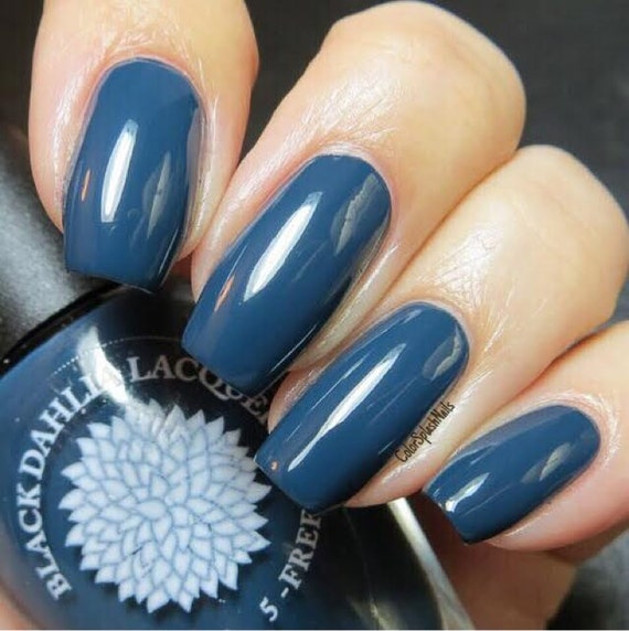 Navy Creme Nail Polish By Black Dahlia Lacquer Moonlight