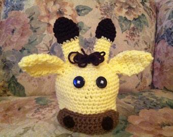 Newborn Crocheted giraffe hat