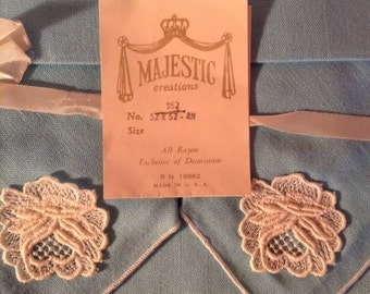 1960s Majestic Creations rayon tablecloth and napkins original packaging