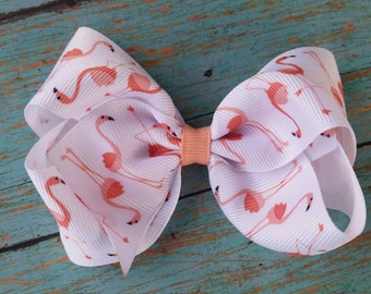 Flamingo Hair bow