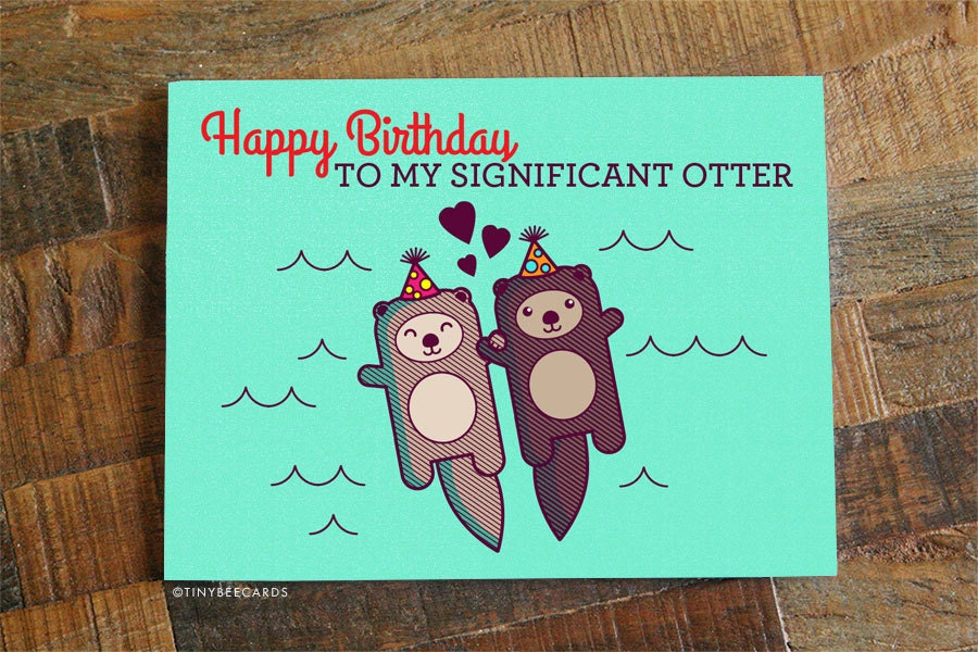 Funny Birthday Card Happy Birthday to my Significant – Happy Birthday Cards for My Husband