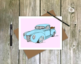 1940 Ford - Blank note card