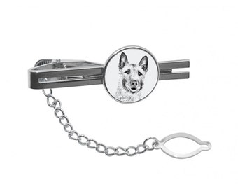 NEW! Laekenois  - Tie pin with an image of a dog.