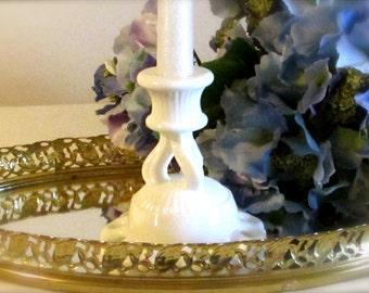 Westmoreland Single Candlestick Holder, Westmoreland Doric Milk Glass Candle Holder, Holiday Decor, Wedding Decor, laslovelies