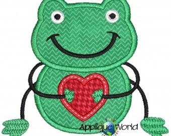 V-Day Boy Frog Applique