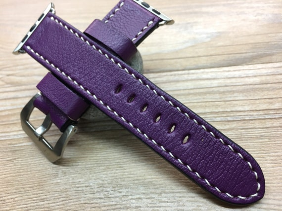 Apple Watch Strap | Apple Watch Band | Leather Watch Strap | Leather Watch Band | Purple Colour Leather For Apple Watch 38mm & 42mm