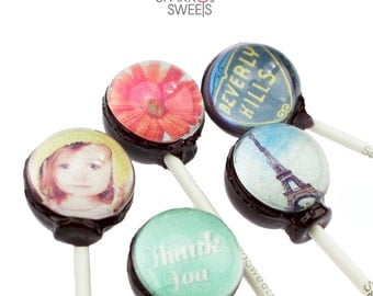 Sparko Sweets Customized Lollipops (10 Pieces) Handmade Gourmet Candy Exquisite Gift Pack