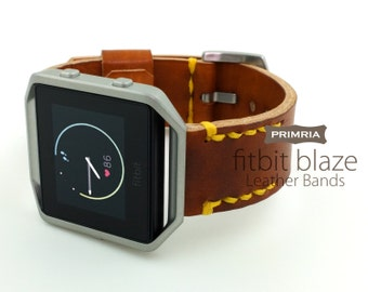 Fitbit Blaze Watch Straps , Handmade Genuine Leather Watch bands