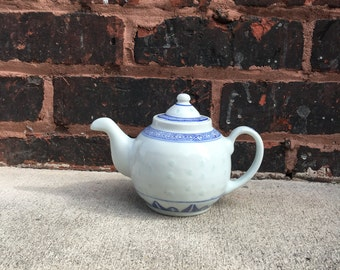 SALE Blue and White Teapot