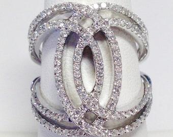 1.00CT Diamond Art Deco Antique Style Bands Anniversary Ring Wedding Band Right Hand Rings Diamonds Platinum 18K 14K White Yellow Rose Gold