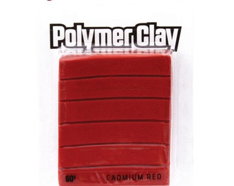 Mont Marte Make n Bake Polymer Clay - Cadmium Red