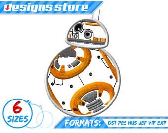 STAR wars EMBROIDERY DESIGN Star war Applique Bb8 Machine Designs Star Wars The Force Awakens
