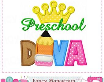 Preschool DIVA,School applique,Preschool,School design,DIVA applique,DIVA design,Student applique.-11