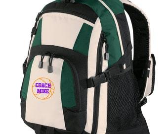 Personalized Backpack Embroidered Back Pack Custom Backpack - Sports - Basketball - BG77