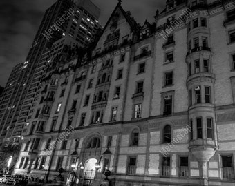 Black and White, New York City Photography, Dakota Building, Fine Art Photography, NYC Pictures, Manhattan
