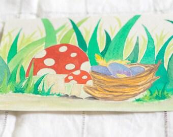 Quiet Nest (ORIGINAL Watercolor Painting)