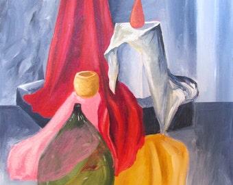 Still Life, acrylic on canvas, 20x16in (50x40cm)