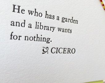 Letterpress Garden Notecard