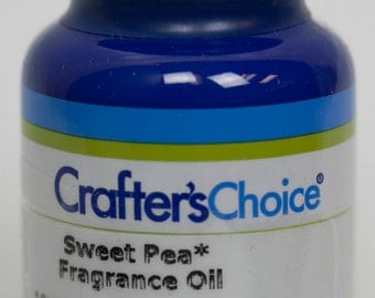 Sweet Pea Fragrance Oil 2 oz, in Blue Glass Bottle for Melt & Pour and Cold Process Soap (308)